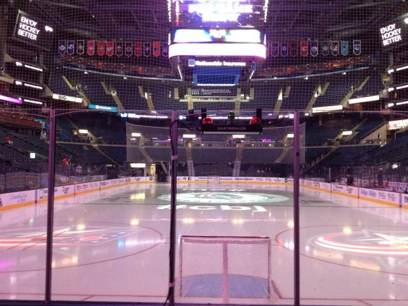 Seating view for Nationwide Arena Section 109 Row F Seat 7