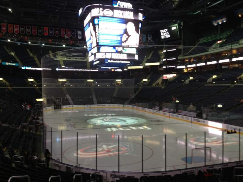Seating view for Nationwide Arena Section 110 Row T Seat 15