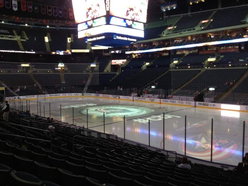Seating view for Nationwide Arena Section 112 Row R Seat 7