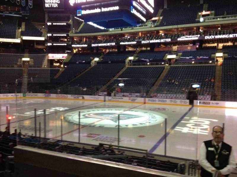 Seating view for Nationwide Arena Section 113 Row N Seat 20