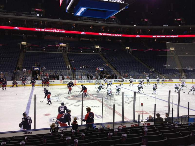 Seating view for Nationwide Arena Section 115 Row M Seat 10
