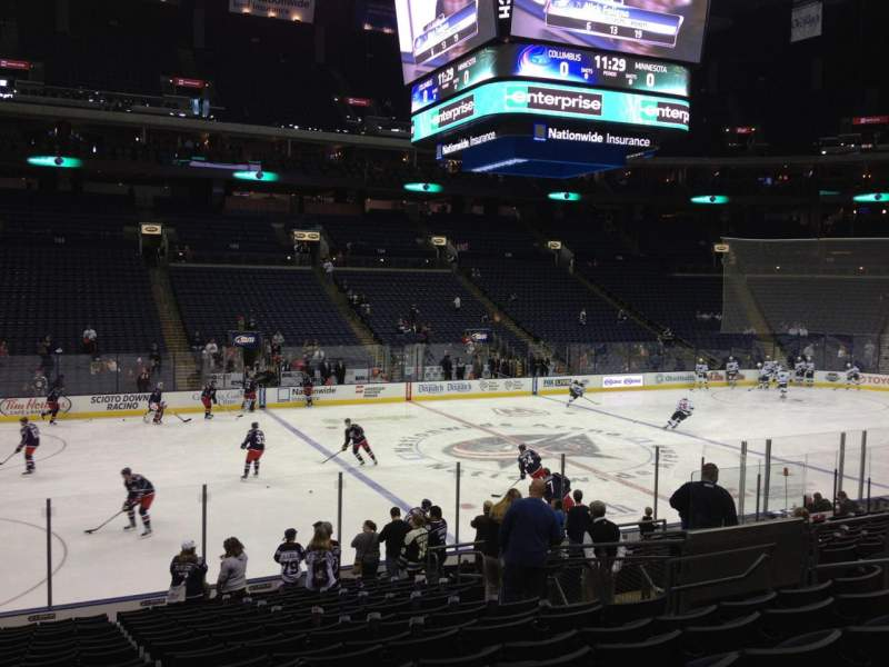 Seating view for Nationwide Arena Section 116 Row T Seat 11