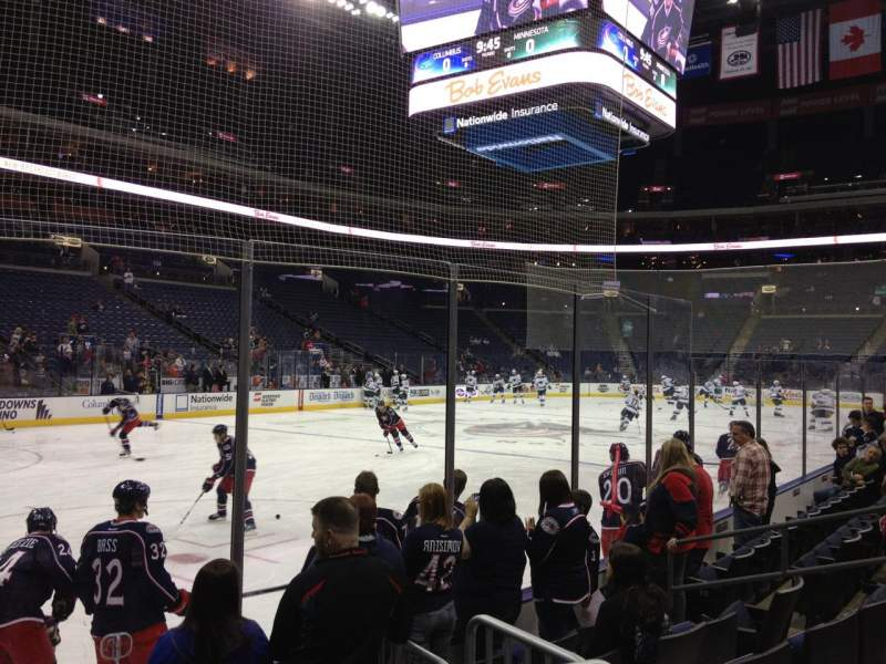 Seating view for Nationwide Arena Section 117 Row F Seat 11