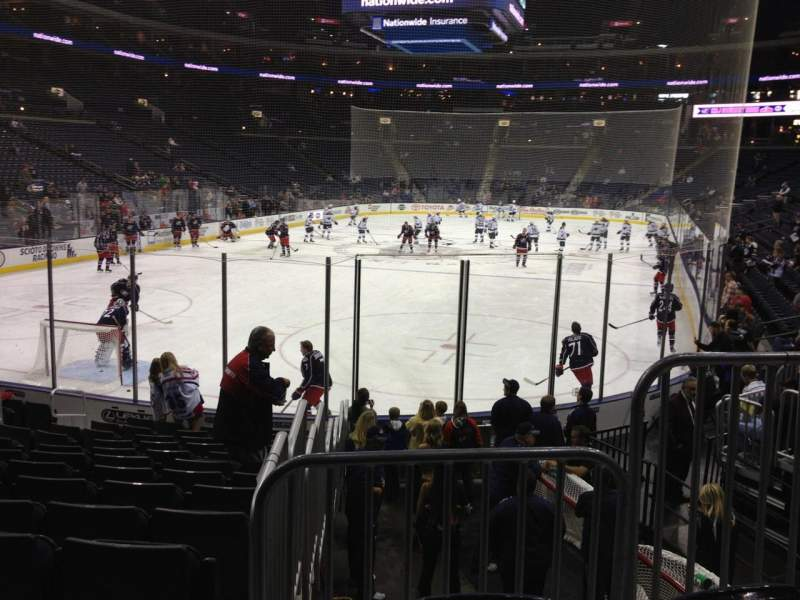 Seating view for Nationwide Arena Section 119 Row N Seat 3