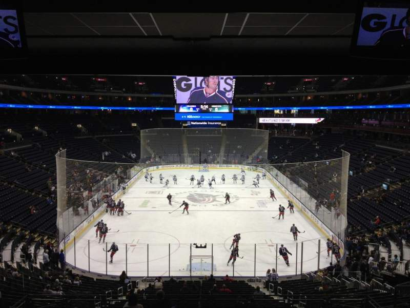 Seating view for Nationwide Arena Section 120 Row MM Seat 13