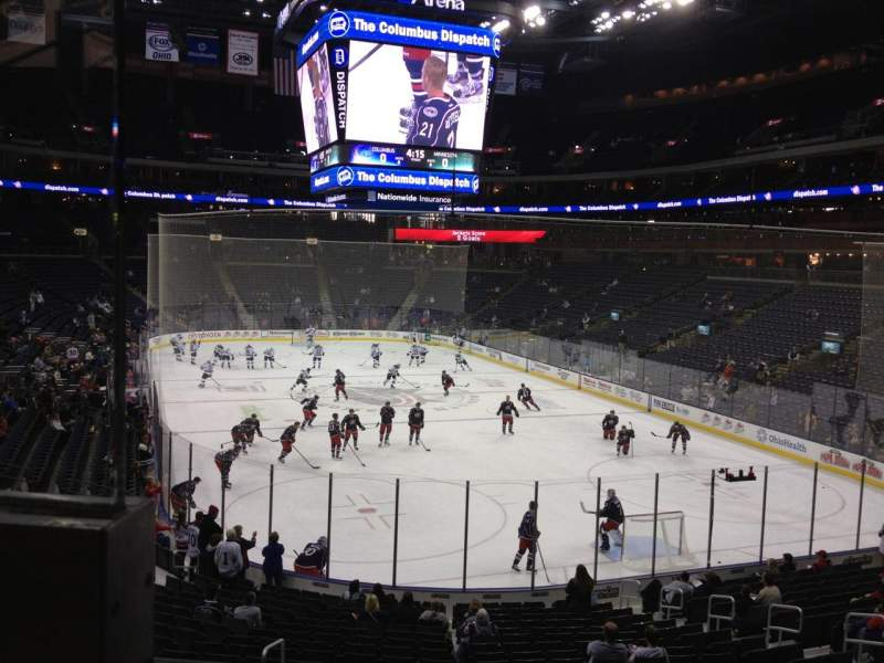 Seating view for Nationwide Arena Section 121 Row BB Seat 12