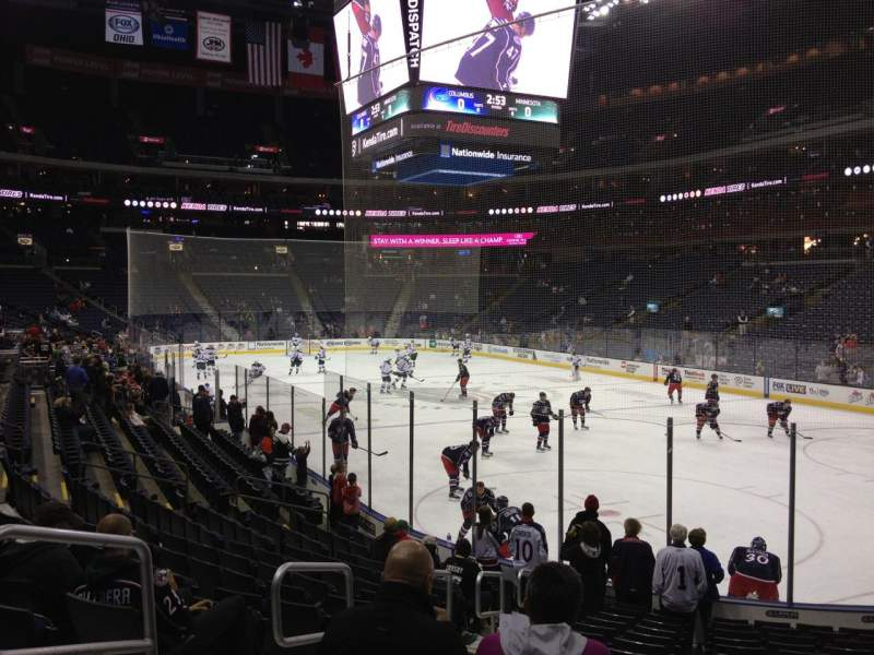 Seating view for Nationwide Arena Section 122 Row P Seat 12