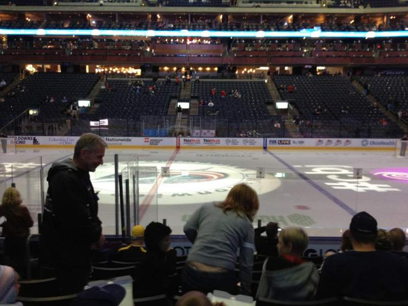 Seating view for Nationwide Arena Section 103 Row K Seat 17
