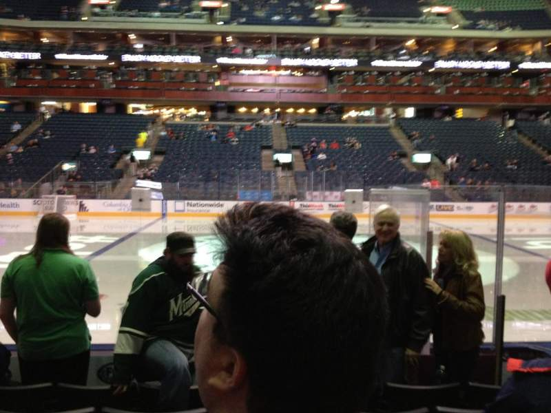 Seating view for Nationwide Arena Section 104 Row G Seat 4
