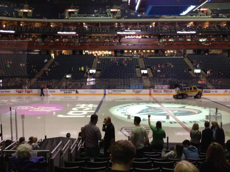 Seating view for Nationwide Arena Section 104 Row N Seat 10