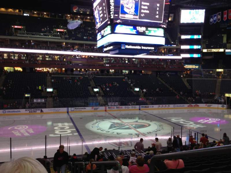 Seating view for Nationwide Arena Section 105 Row W Seat 5