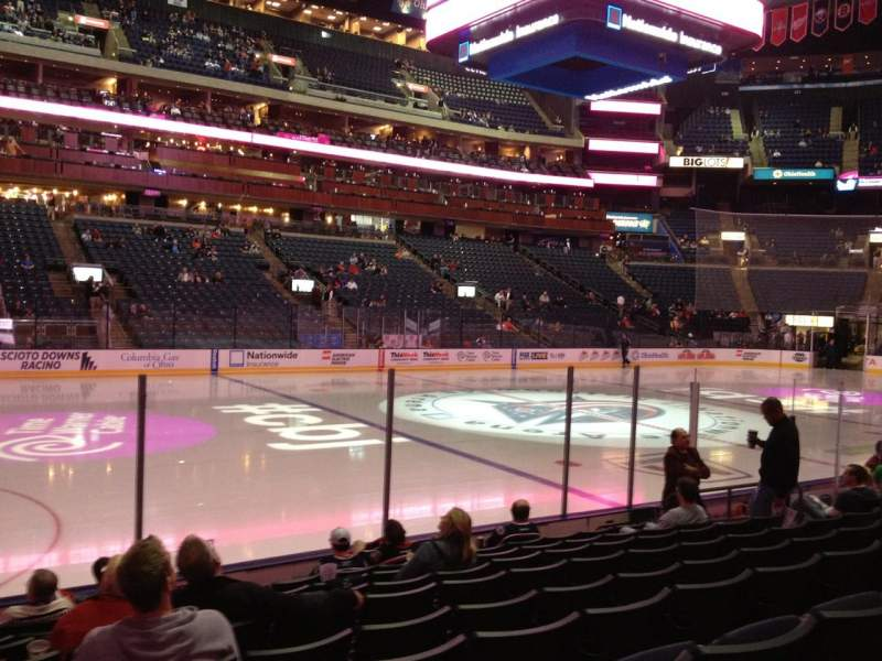 Seating view for Nationwide Arena Section 105 Row J Seat 15