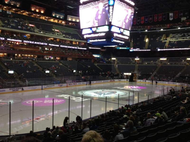 Seating view for Nationwide Arena Section 106 Row S Seat 21