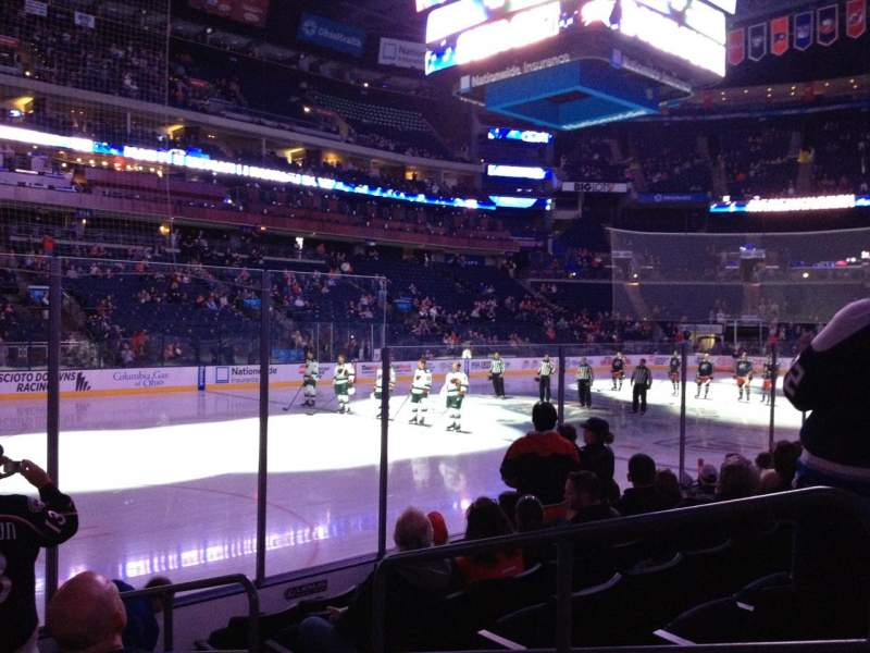 Seating view for Nationwide Arena Section 106 Row G Seat 4