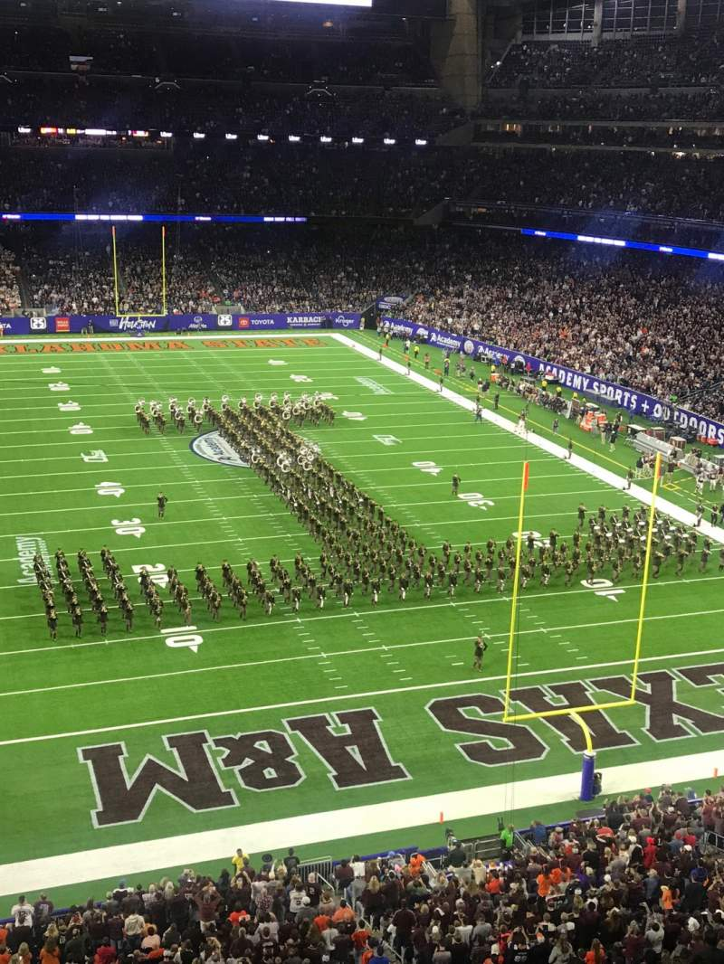 Seating view for NRG Stadium Section 523 Row A Seat 5