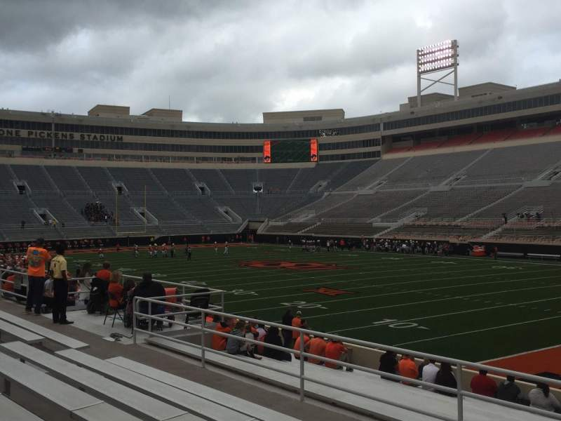 Seating view for Boone Pickens Stadium Section 201 Row 7 Seat 3