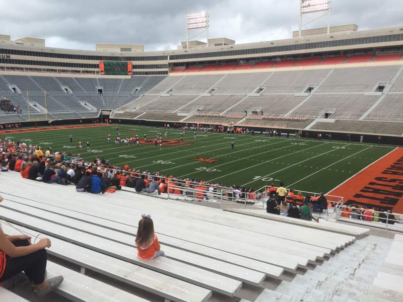 Seating view for Boone Pickens Stadium Section 201 Row 27 Seat 24