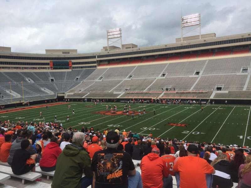 Seating view for Boone Pickens Stadium Section 202 Row 27 Seat 44