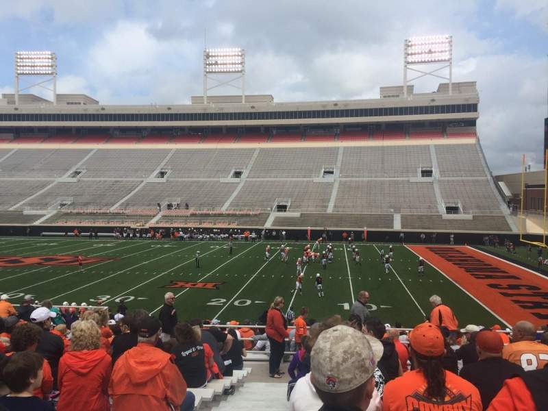 Seating view for Boone Pickens Stadium Section 202 Row 15 Seat 50