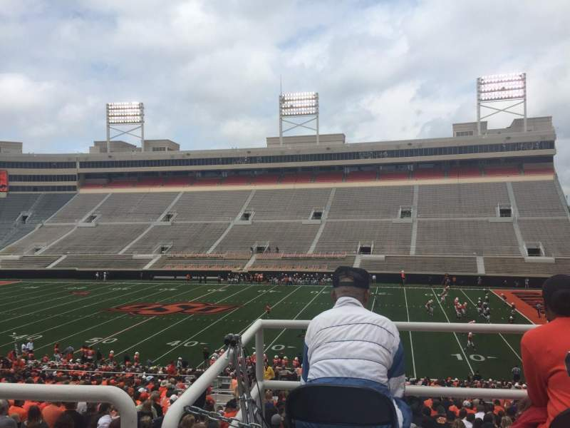Seating view for Boone Pickens Stadium Section 303 Row 1 Seat 9
