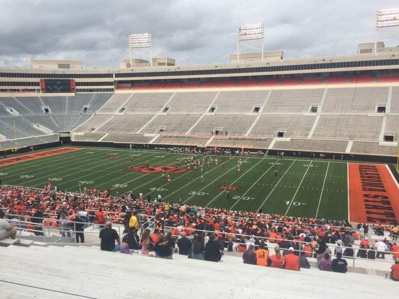 Seating view for Boone Pickens Stadium Section 302 Row 22 Seat 33
