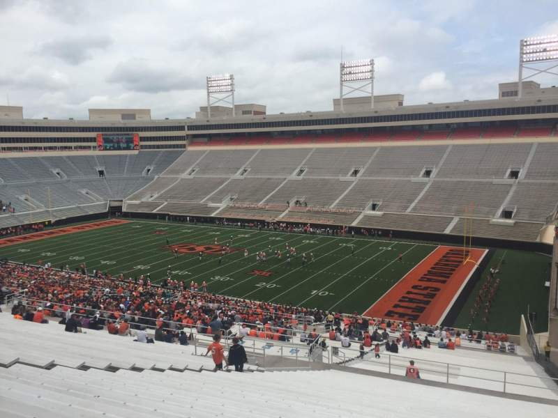 Seating view for Boone Pickens Stadium Section 301 Row 30 Seat 10