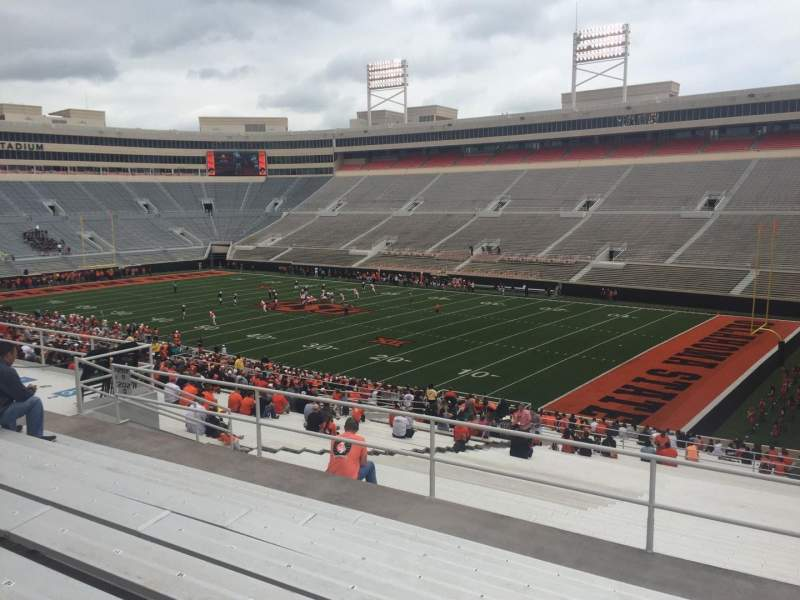 Seating view for Boone Pickens Stadium Section 301 Row 8 Seat 4