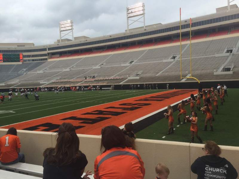 Seating view for Boone Pickens Stadium Section 101 Row 6 Seat 3