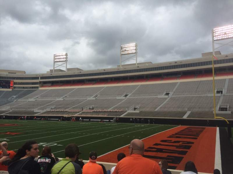 Seating view for Boone Pickens Stadium Section 101 Row 10 Seat 20