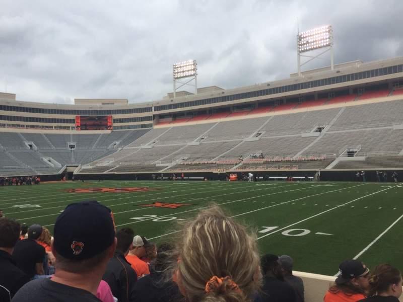 Boone Pickens Stadium, section: 102, row: 7, seat: 3
