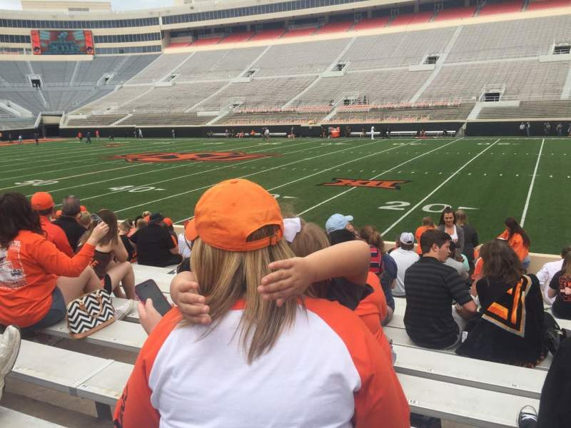 Boone Pickens Stadium, section: 102, row: 14, seat: 30