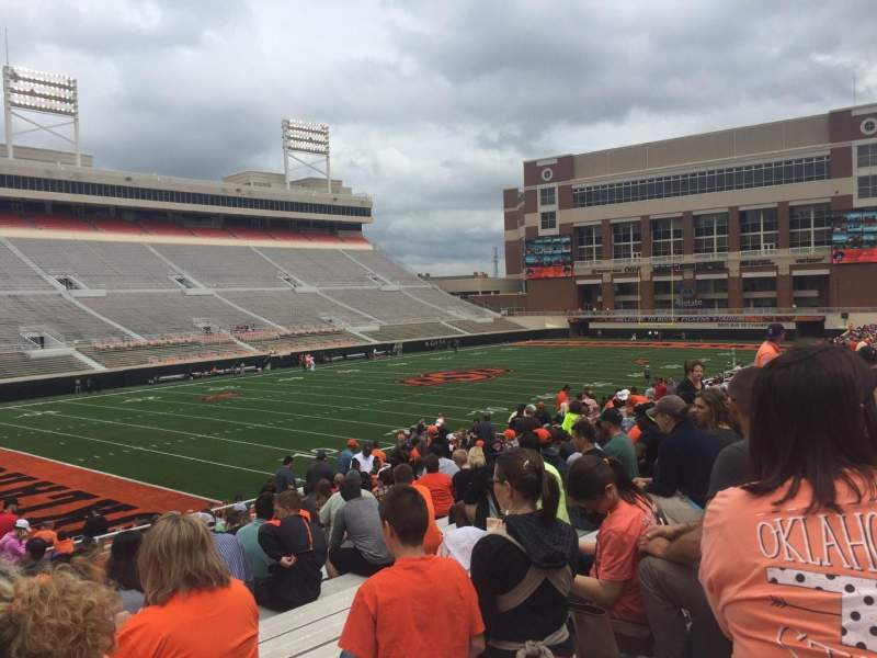 Seating view for Boone Pickens Stadium Section 210 Row 19 Seat 23