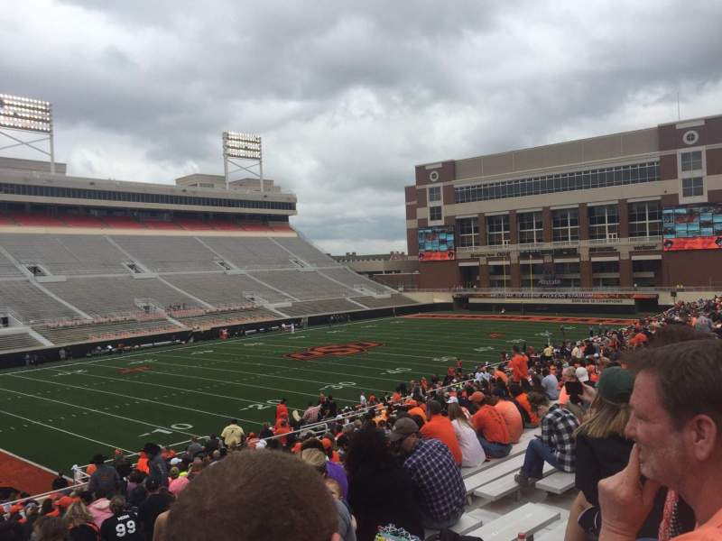 Seating view for Boone Pickens Stadium Section 210 Row 27 Seat 11