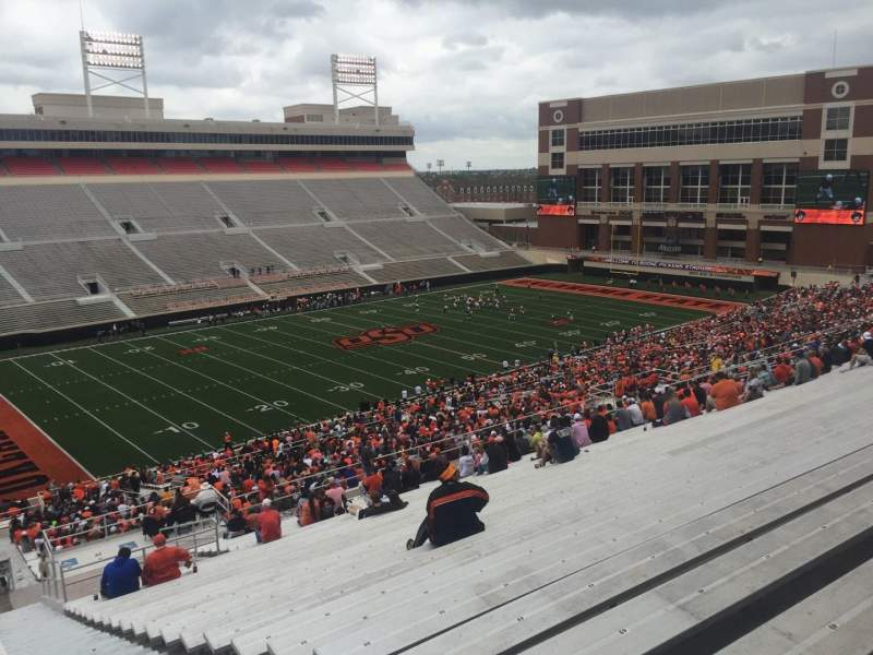 Seating view for Boone Pickens Stadium Section 310 Row 30 Seat 1