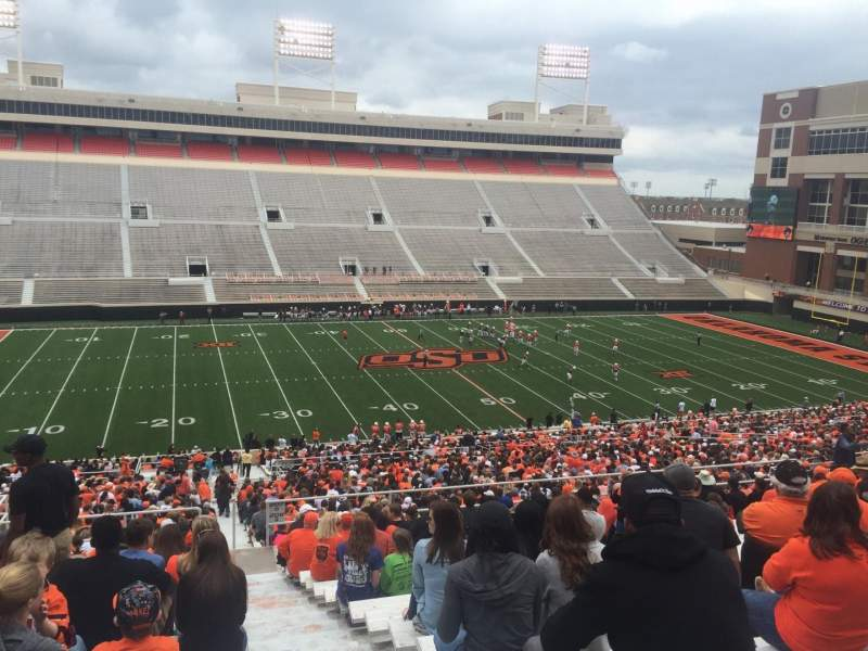 Seating view for Boone Pickens Stadium Section 308 Row 19 Seat 1