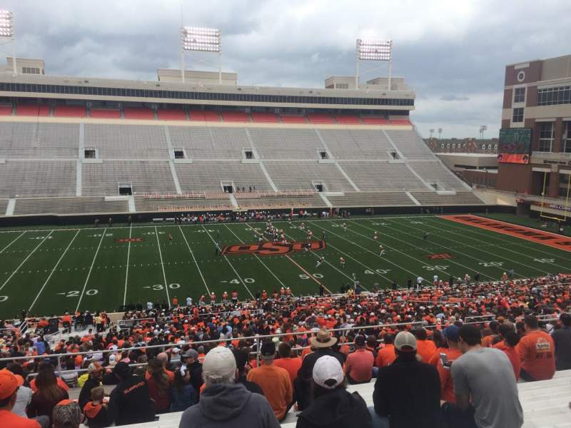 Seating view for Boone Pickens Stadium Section 307 Row 18 Seat 18