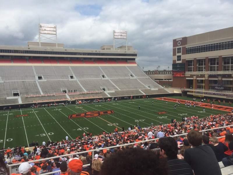 Boone Pickens Stadium, section: 307, row: 8, seat: 28
