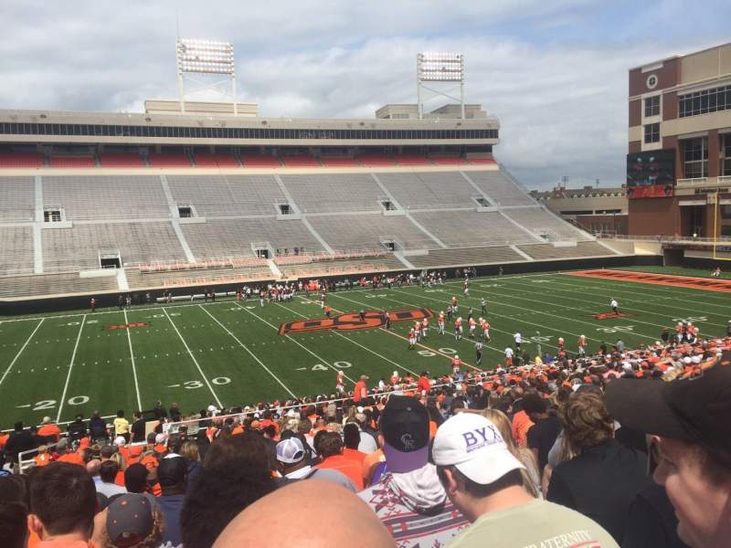 Seating view for Boone Pickens Stadium Section 207 Row 29 Seat 25