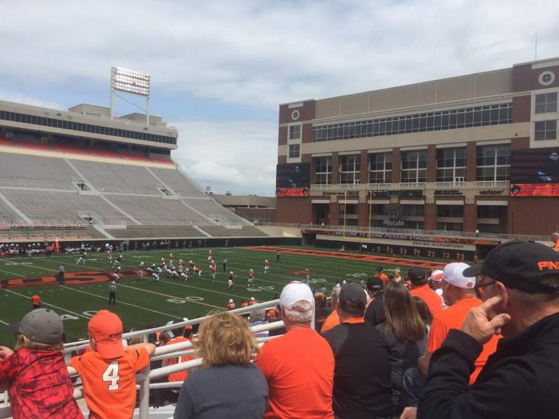 Seating view for Boone Pickens Stadium Section 208 Row 12 Seat 1
