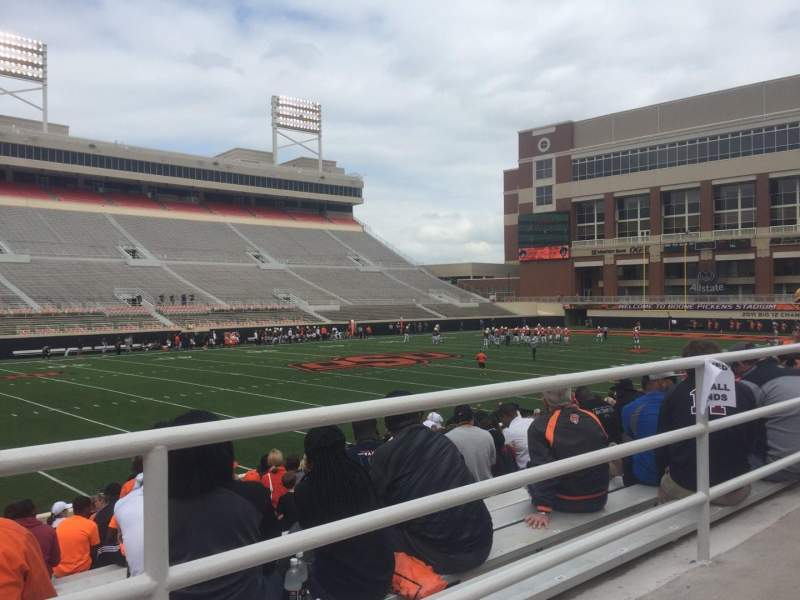 Seating view for Boone Pickens Stadium Section 209 Row 1 Seat 13