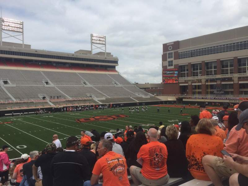 Seating view for Boone Pickens Stadium Section 208 Row 13 Seat 1