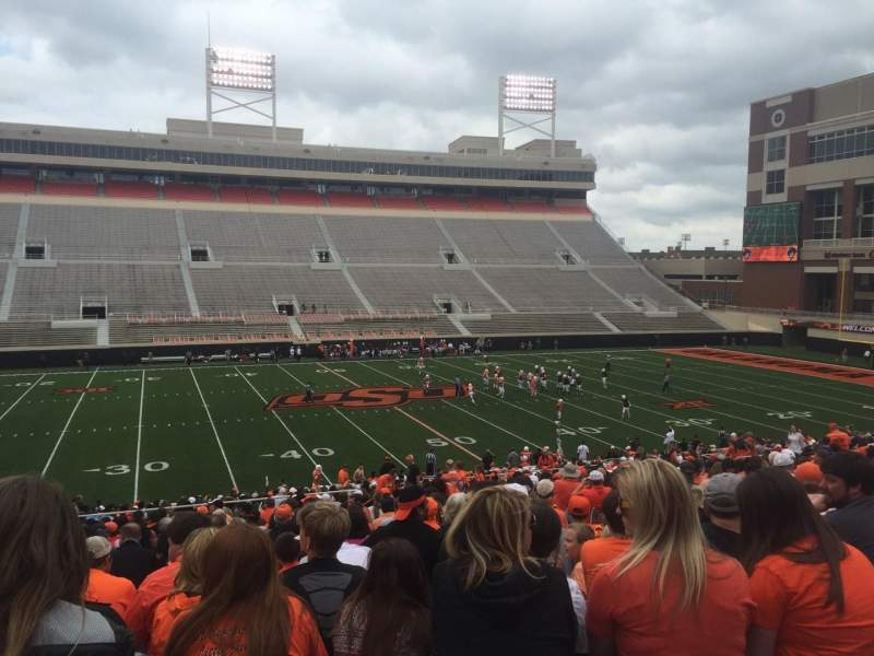 Seating view for Boone Pickens Stadium Section 207 Row 27 Seat 11