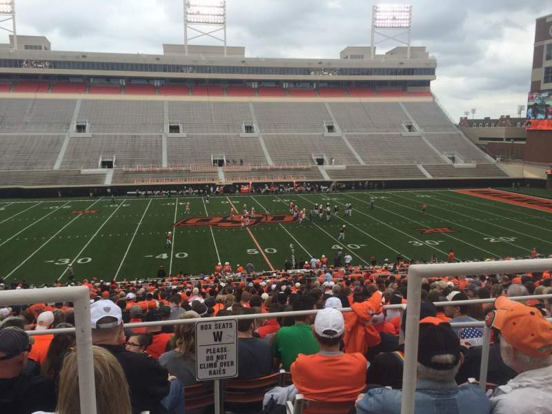 Seating view for Boone Pickens Stadium Section 206 Row 1 Seat 15