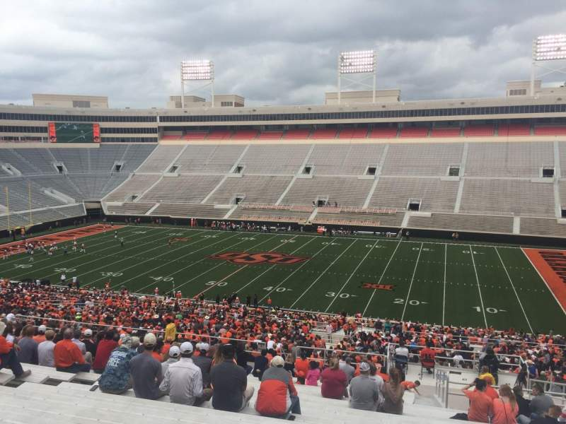 Seating view for Boone Pickens Stadium Section 303 Row 25 Seat 9