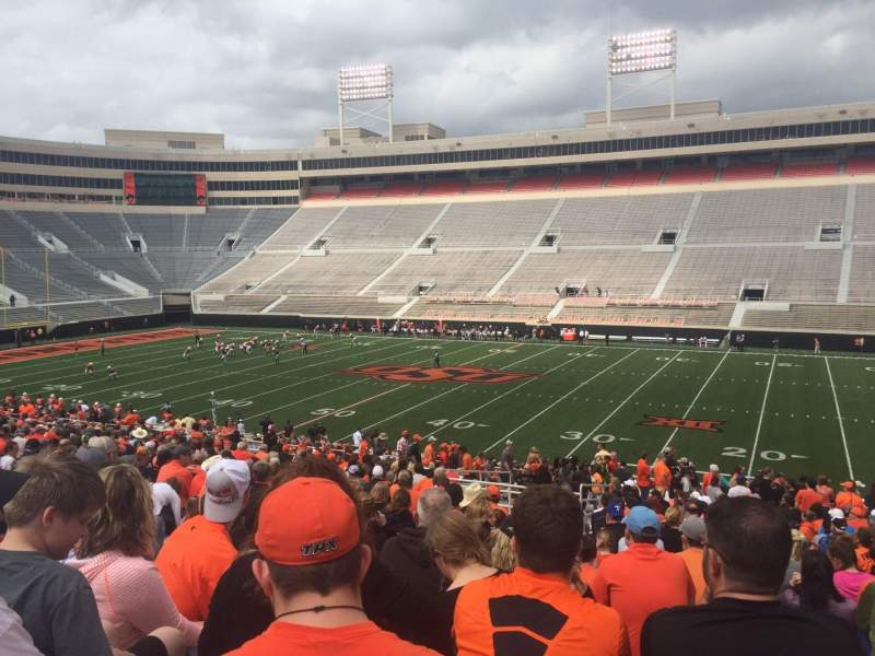 Seating view for Boone Pickens Stadium Section 203 Row 29 Seat 13