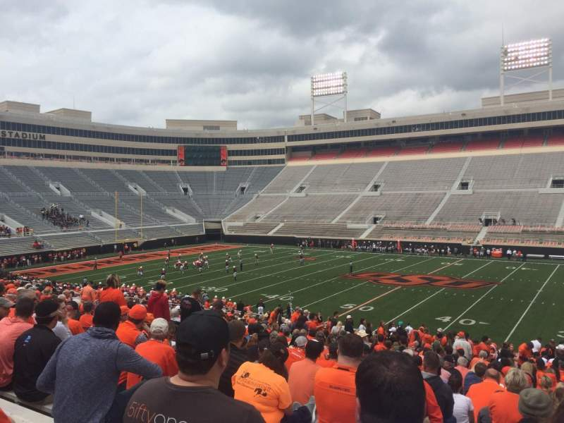 Seating view for Boone Pickens Stadium Section 204 Row 26 Seat 12