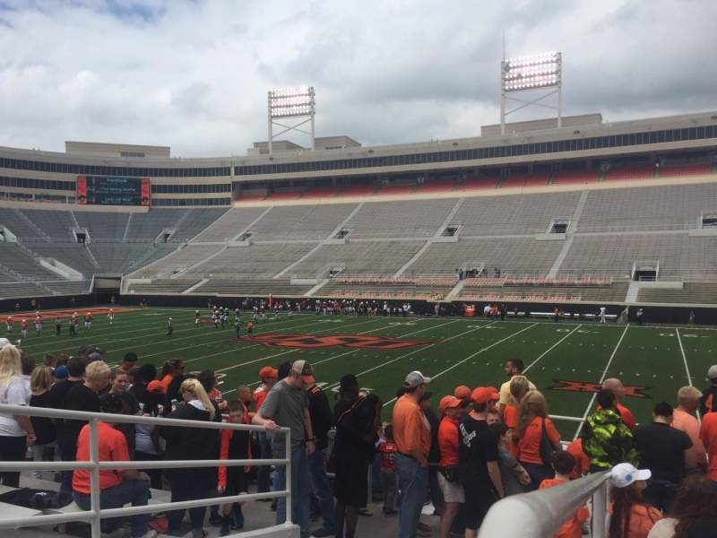 Seating view for Boone Pickens Stadium Section 203 Row 9 Seat 18