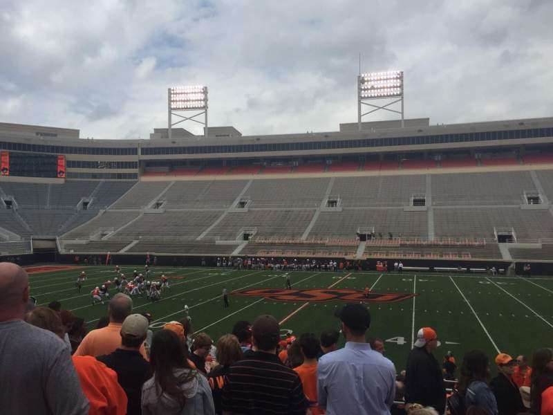 Seating view for Boone Pickens Stadium Section 205 Row 8 Seat 4