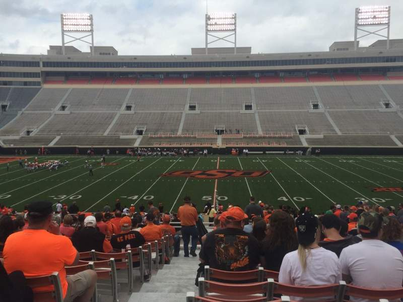 Seating view for Boone Pickens Stadium Section 205 Row 24 Seat 22
