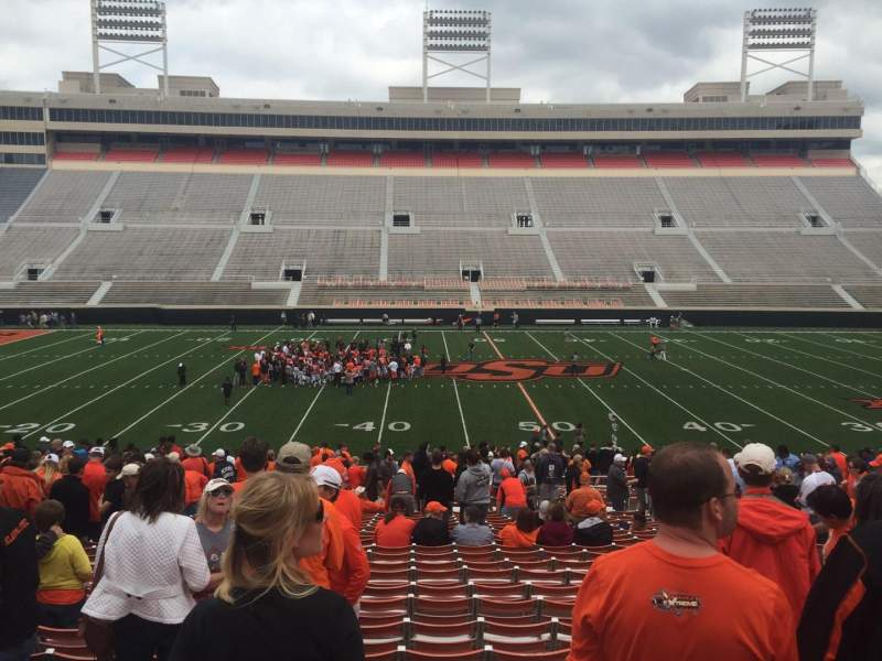 Seating view for Boone Pickens Stadium Section 206 Row 24 Seat 14